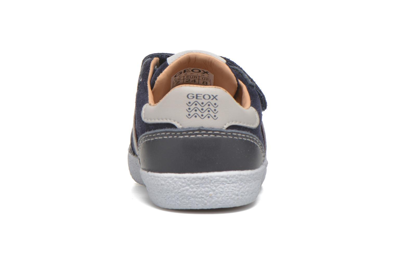 Sneaker Geox B KIWI B. C - SCAM.+TELA blau ansicht von rechts