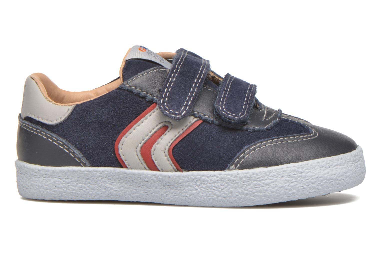 Sneaker Geox B KIWI B. C - SCAM.+TELA blau ansicht von hinten