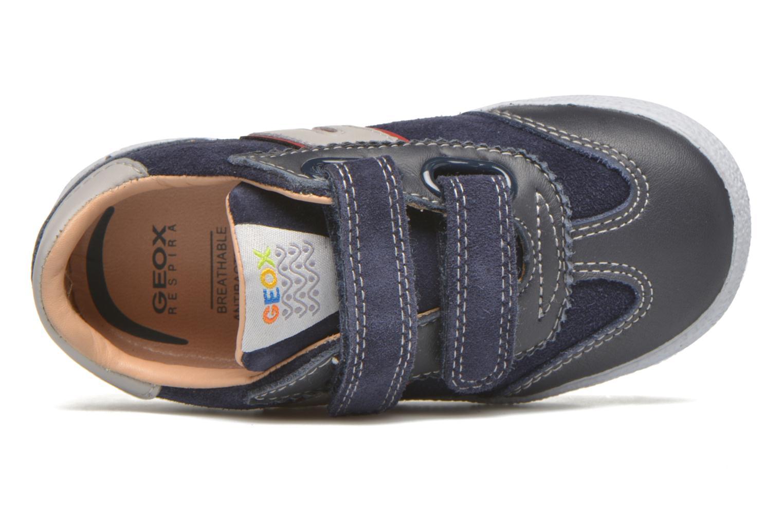 Sneaker Geox B KIWI B. C - SCAM.+TELA blau ansicht von links