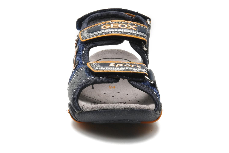 Sandalen Geox B SAND.STRIKE A - MESH+DBK blau schuhe getragen