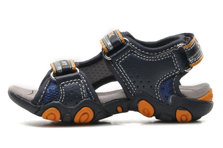 Sandals Geox B SAND.STRIKE A - MESH+DBK Blue front view