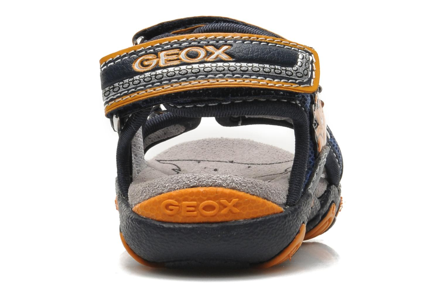 Sandals Geox B SAND.STRIKE A - MESH+DBK Blue view from the right