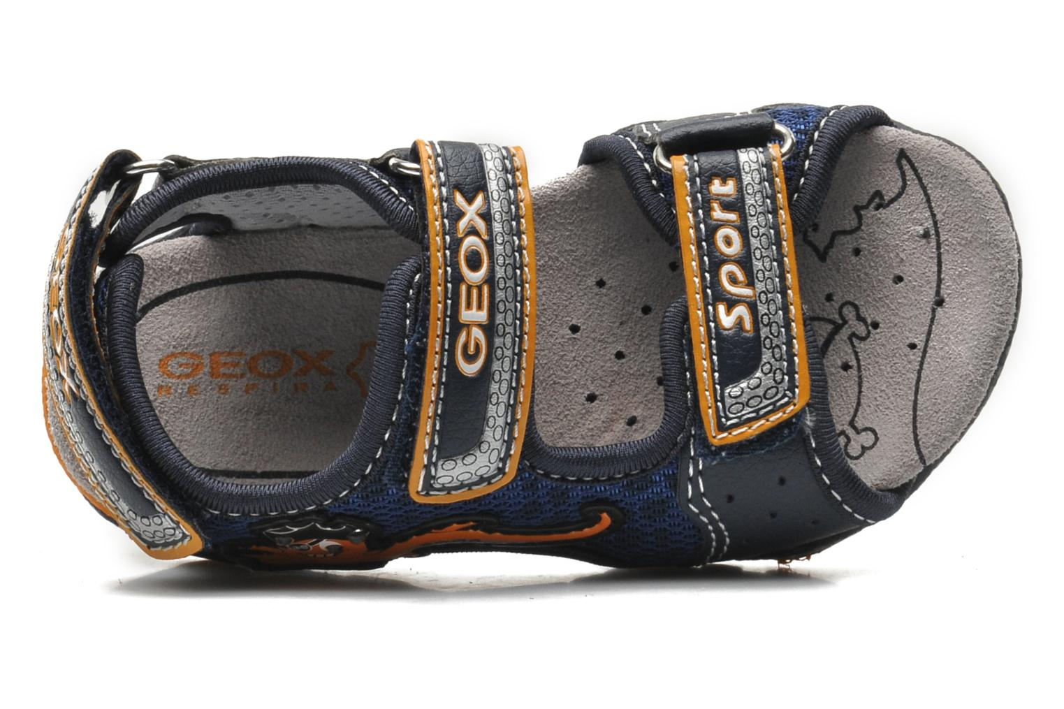 Sandals Geox B SAND.STRIKE A - MESH+DBK Blue view from the left