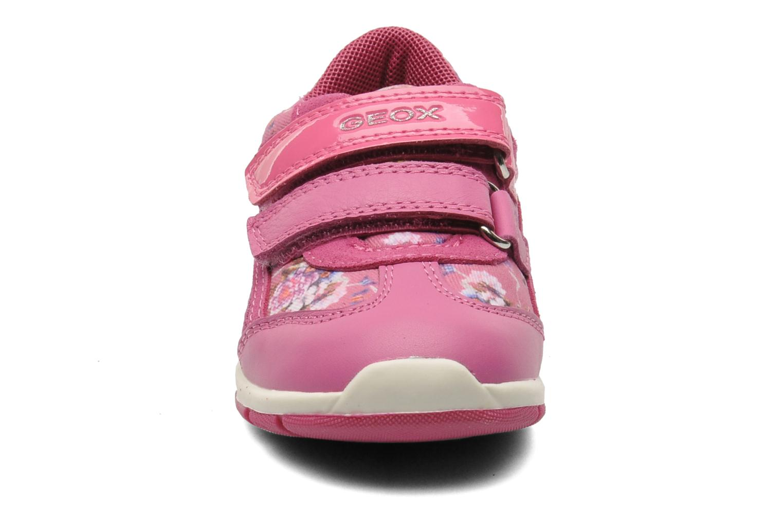 Baskets Geox B SHAAX G. B - TELA+VIT.LISCIO Rose vue portées chaussures