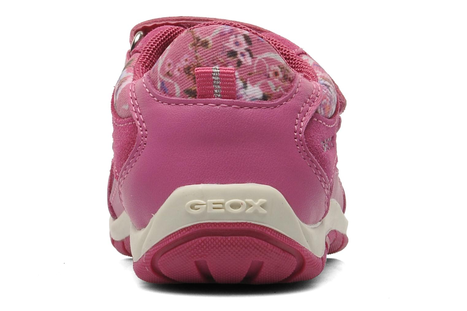 Trainers Geox B SHAAX G. B - TELA+VIT.LISCIO Pink view from the right