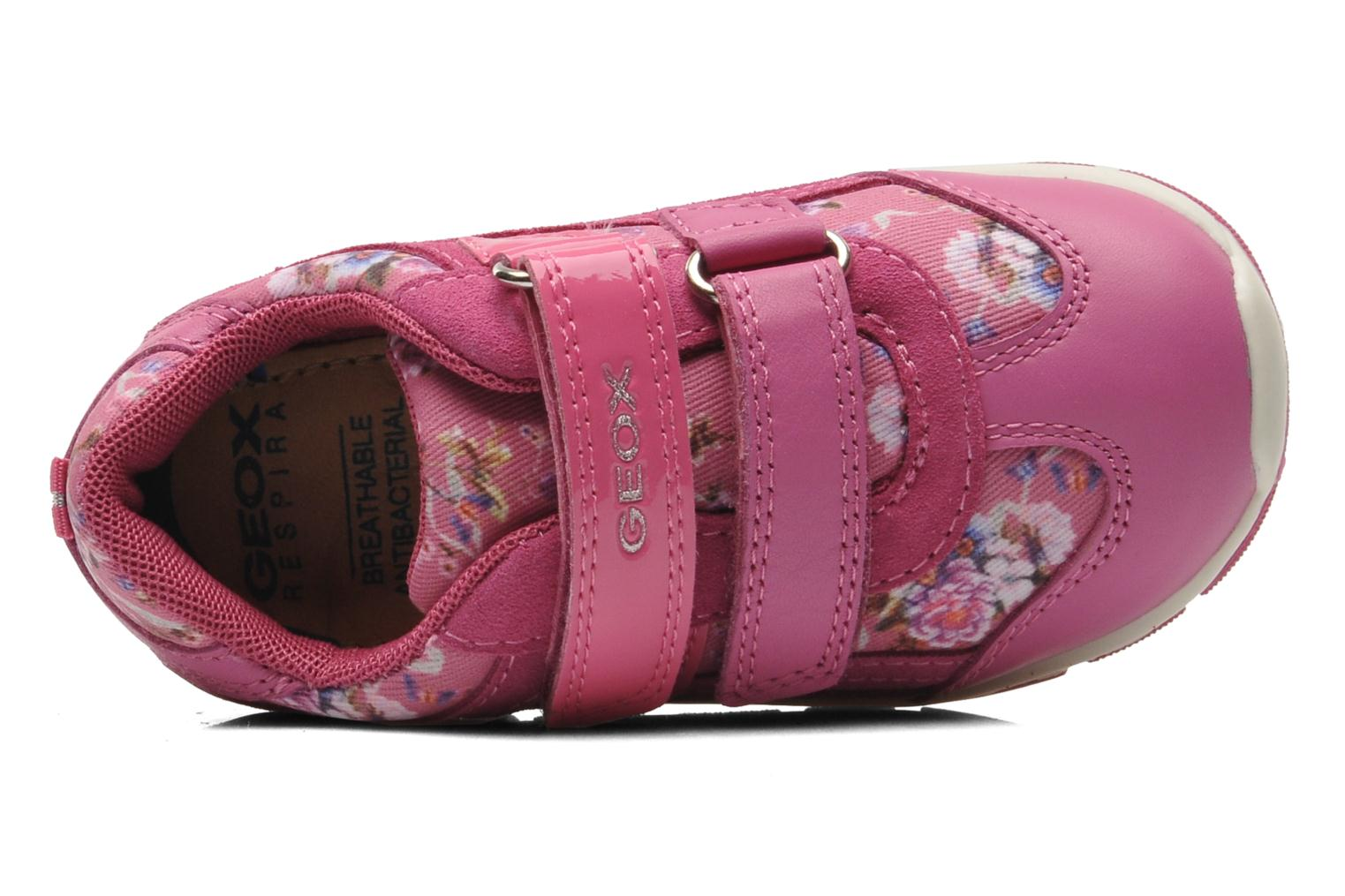 Trainers Geox B SHAAX G. B - TELA+VIT.LISCIO Pink view from the left