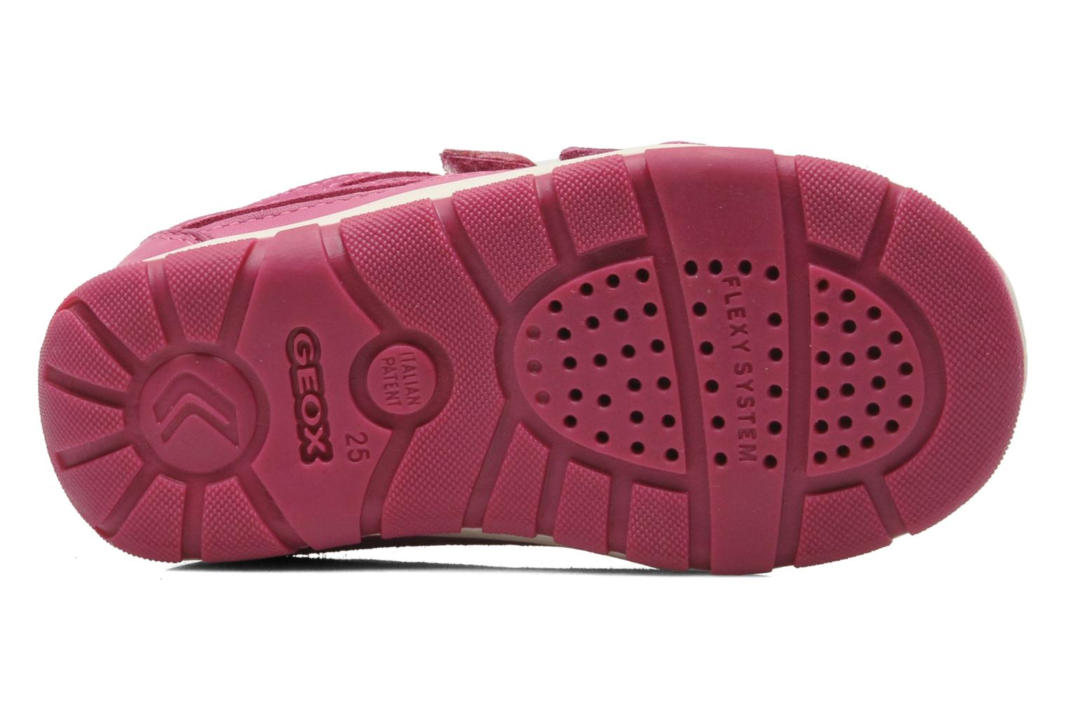Trainers Geox B SHAAX G. B - TELA+VIT.LISCIO Pink view from above