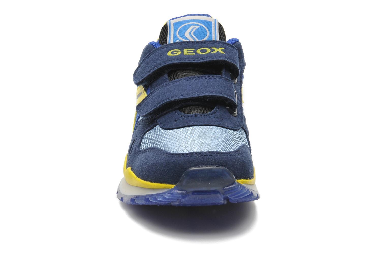 Sneaker Geox J PAVEL A - TESS.+SCAM.SINT. blau schuhe getragen