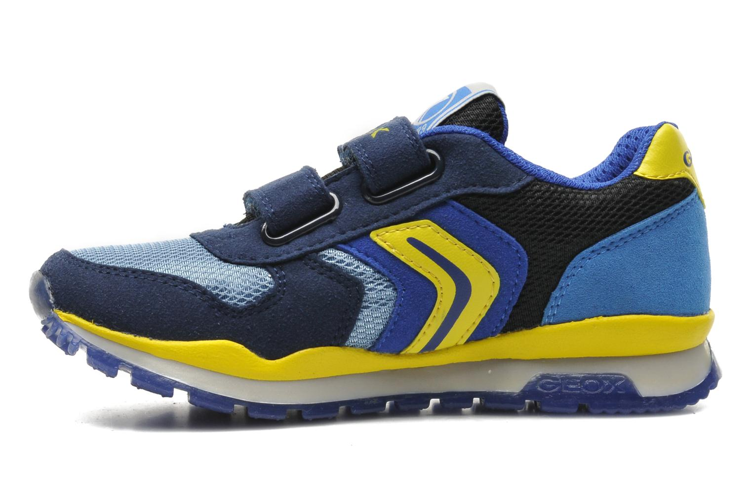 Trainers Geox J PAVEL A - TESS.+SCAM.SINT. Blue front view
