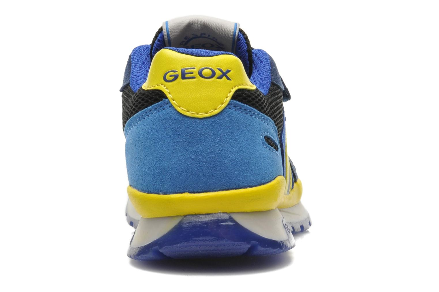 Trainers Geox J PAVEL A - TESS.+SCAM.SINT. Blue view from the right