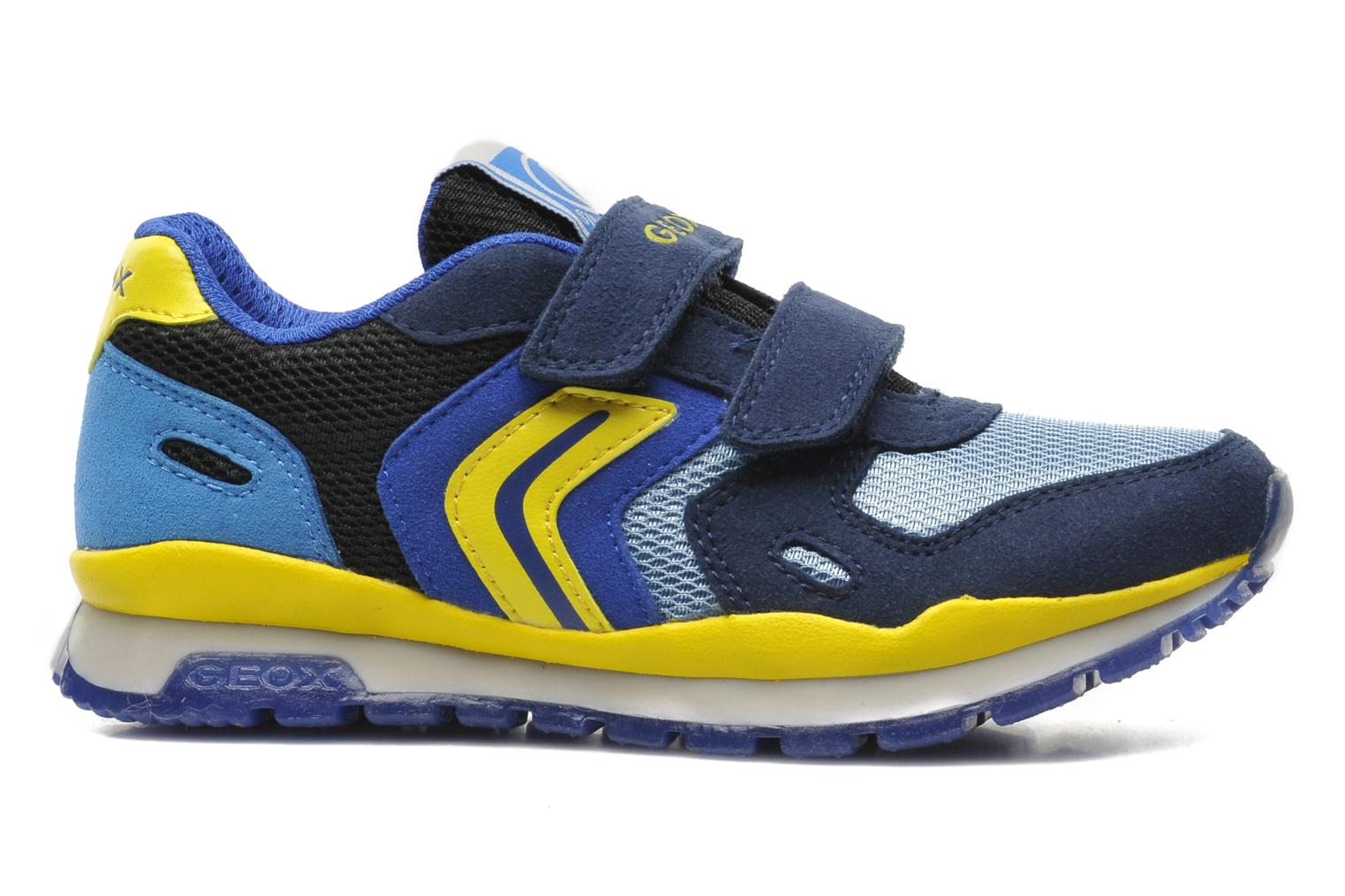 Sneakers Geox J PAVEL A - TESS.+SCAM.SINT. Blauw achterkant