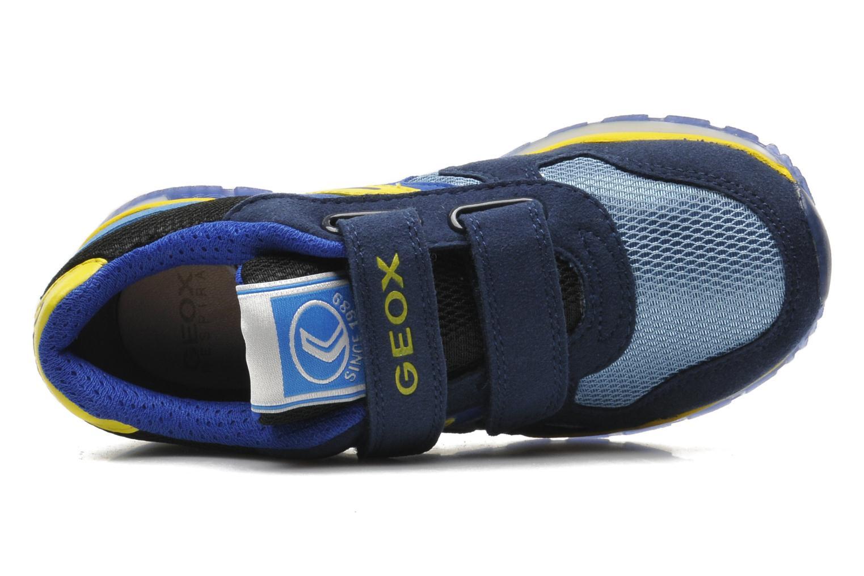 Sneaker Geox J PAVEL A - TESS.+SCAM.SINT. blau ansicht von links