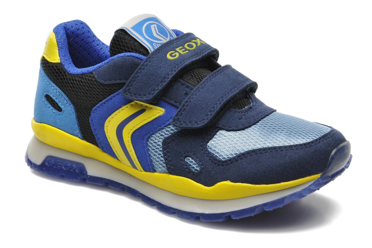 Trainers Geox J PAVEL A - TESS.+SCAM.SINT. Blue detailed view/ Pair view