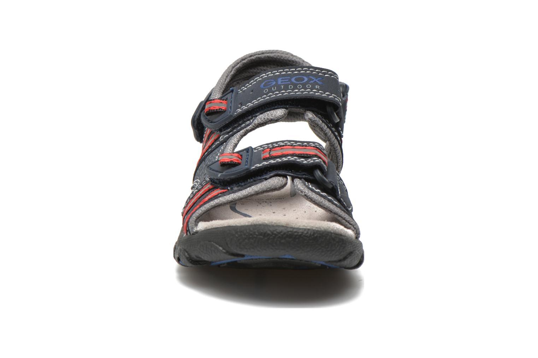 Sandales et nu-pieds Geox J S.STRADA A J4224A Bleu vue portées chaussures