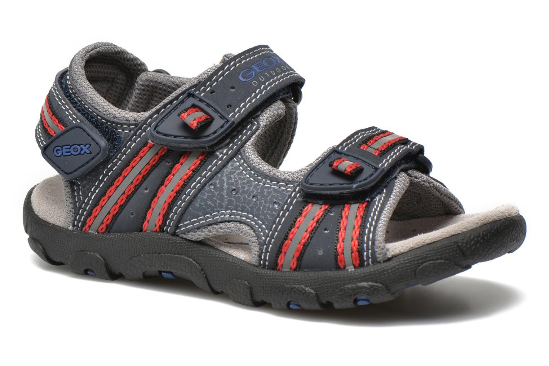 Sandales et nu-pieds Geox J S.STRADA A J4224A Bleu vue détail/paire