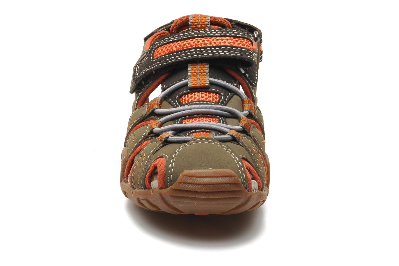 Sandales et nu-pieds Geox J Sand Kraze G J5224G Marron vue portées chaussures