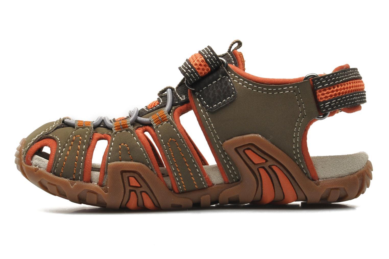 Sandales et nu-pieds Geox J Sand Kraze G J5224G Marron vue face