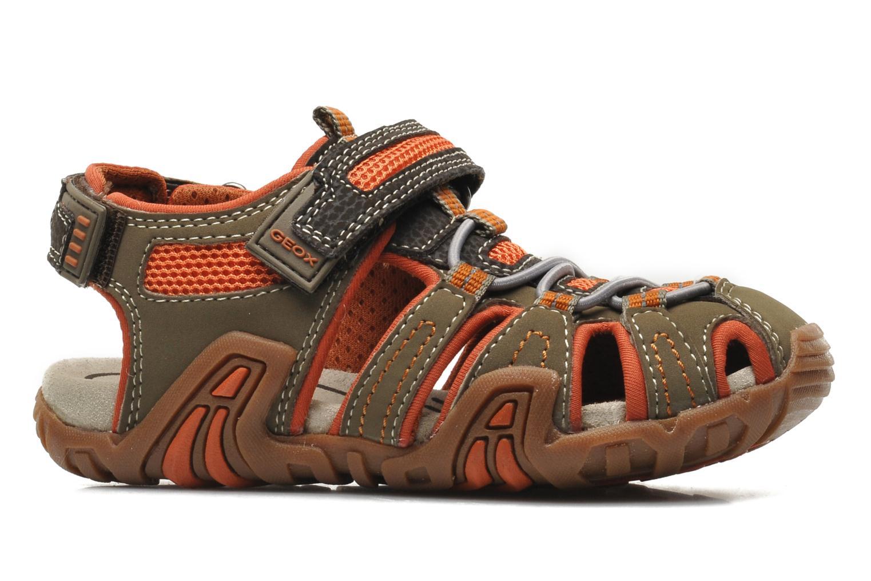 Sandales et nu-pieds Geox J Sand Kraze G J5224G Marron vue derrière