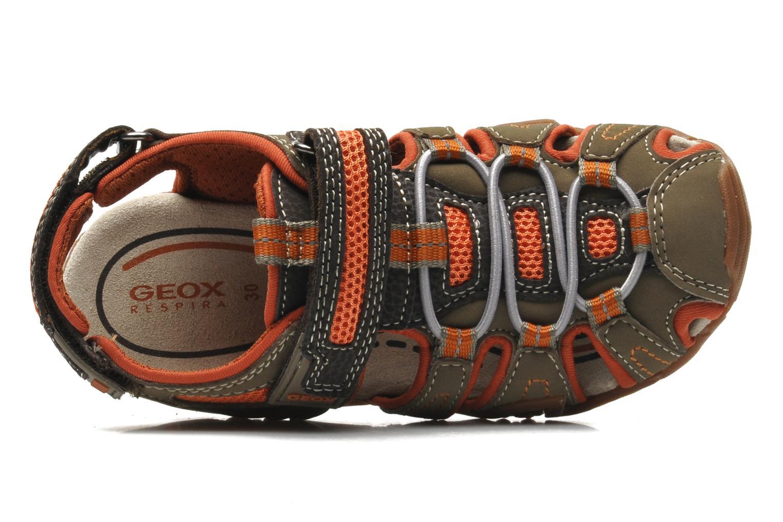 Sandales et nu-pieds Geox J Sand Kraze G J5224G Marron vue gauche
