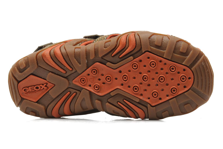 Sandales et nu-pieds Geox J Sand Kraze G J5224G Marron vue haut