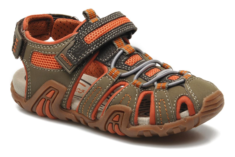 Sandales et nu-pieds Geox J Sand Kraze G J5224G Marron vue détail/paire
