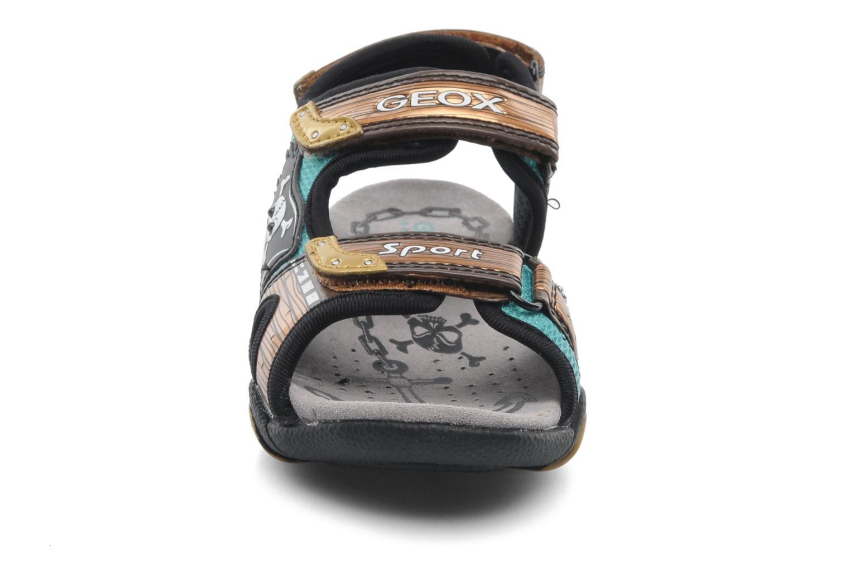 Sandales et nu-pieds Geox J SAND.STRIKE D - MESH+DBK ST Marron vue portées chaussures