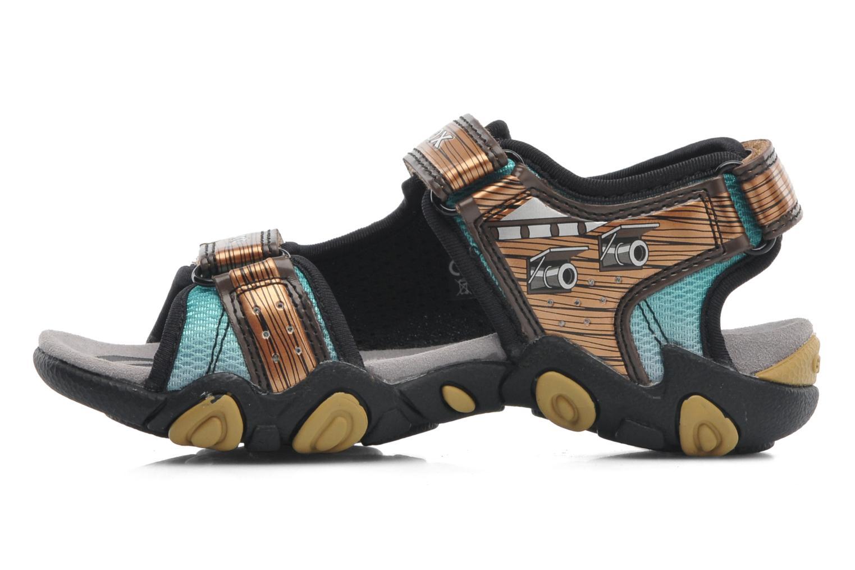 Sandales et nu-pieds Geox J SAND.STRIKE D - MESH+DBK ST Marron vue face