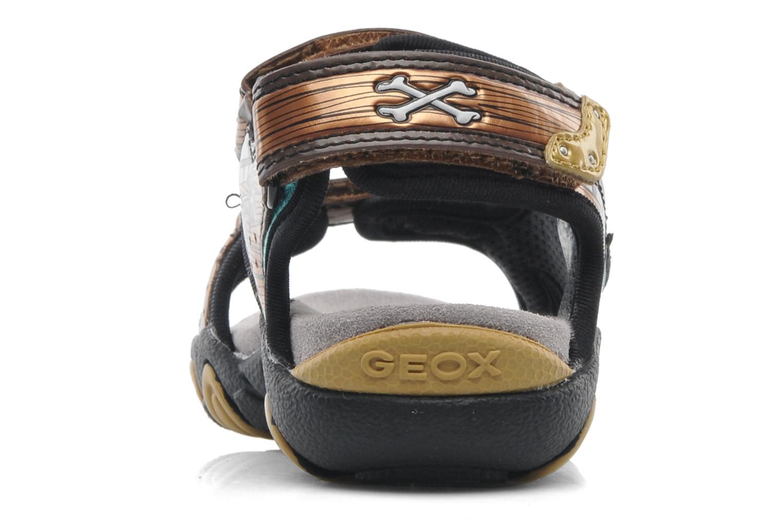 Sandales et nu-pieds Geox J SAND.STRIKE D - MESH+DBK ST Marron vue droite