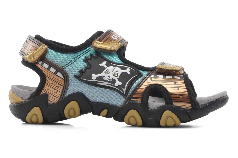 Sandales et nu-pieds Geox J SAND.STRIKE D - MESH+DBK ST Marron vue derrière