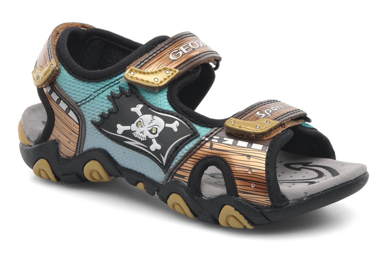 Sandales et nu-pieds Geox J SAND.STRIKE D - MESH+DBK ST Marron vue détail/paire