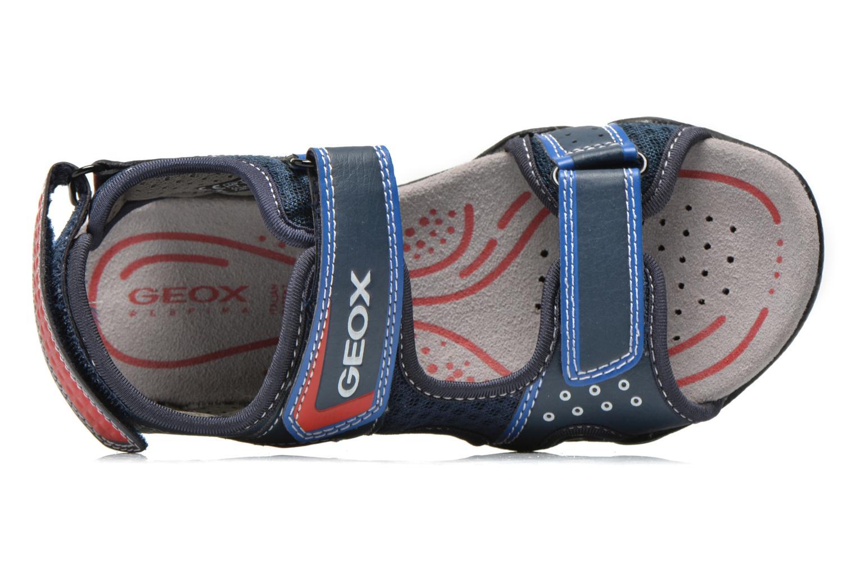 Sandalen Geox J SAND.STRIKE E- MESH+ECOP.BOT Blauw links