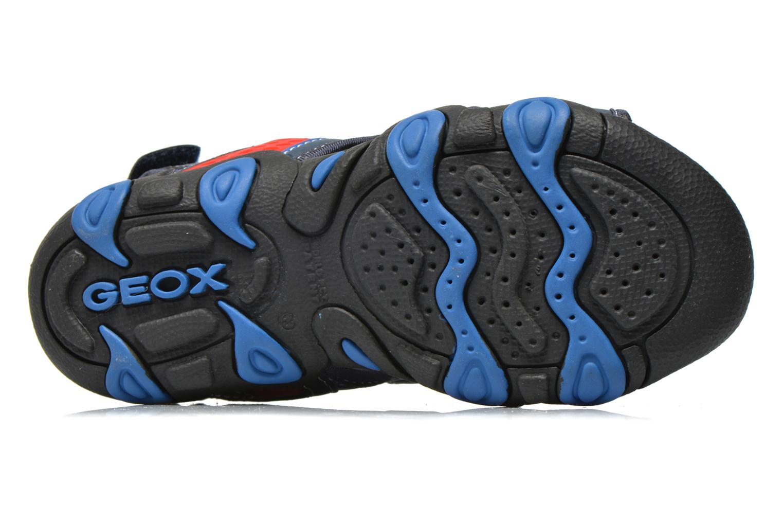 Sandalen Geox J SAND.STRIKE E- MESH+ECOP.BOT Blauw boven