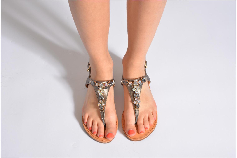 Sandales et nu-pieds Geox D JOLANDA L-D5275L Gris vue bas / vue portée sac