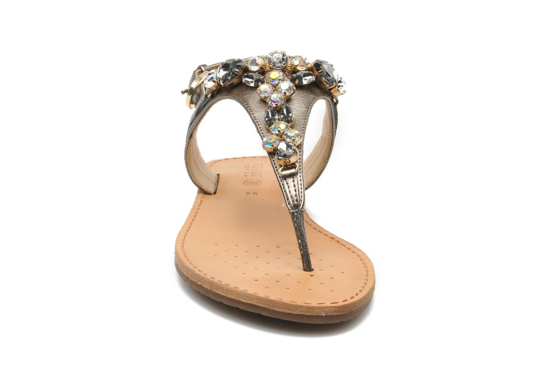 Sandales et nu-pieds Geox D JOLANDA L-D5275L Gris vue portées chaussures