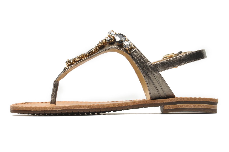 Sandales et nu-pieds Geox D JOLANDA L-D5275L Gris vue face