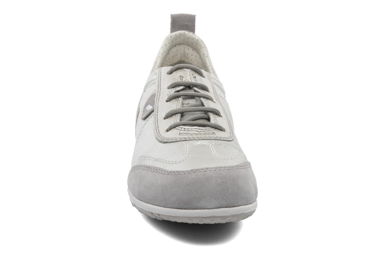 Sneaker Geox D VEGA A D3209A beige schuhe getragen