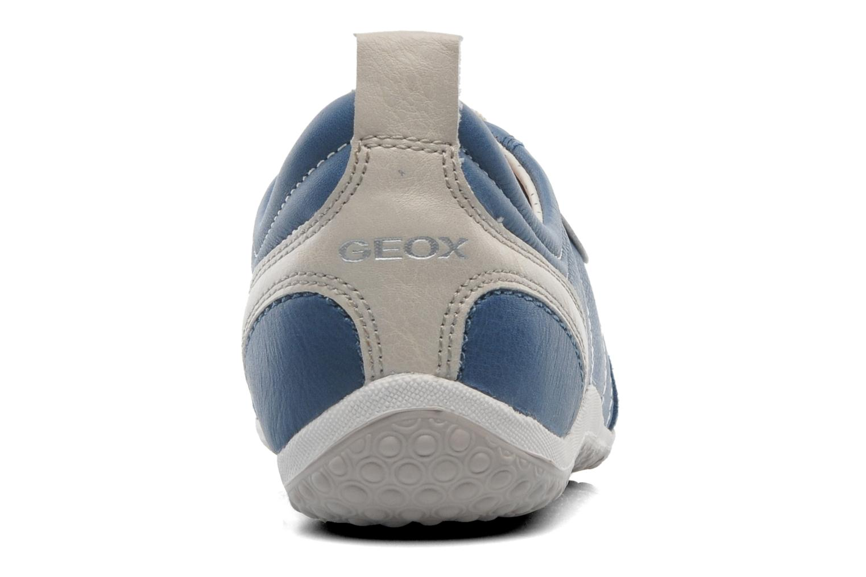 Baskets Geox D VEGA A D3209A Bleu vue droite