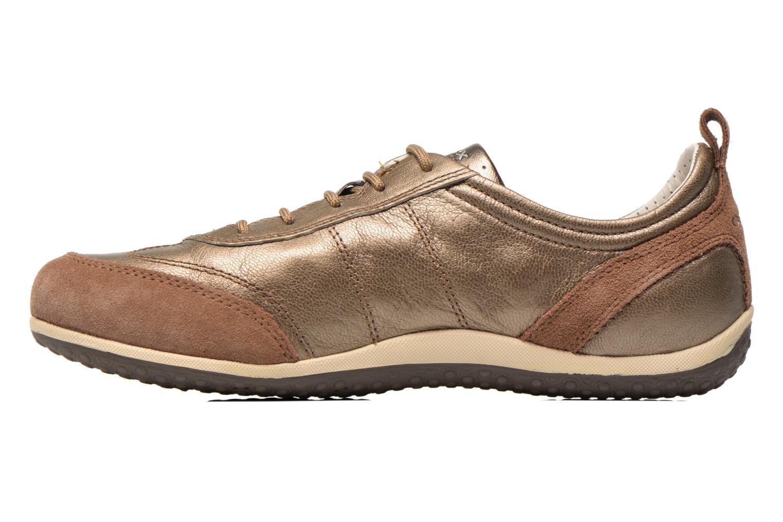 Sneaker Geox D VEGA A D3209A gold/bronze ansicht von vorne