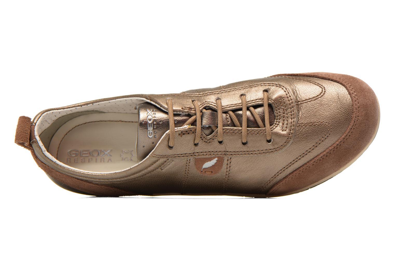 Sneakers Geox D VEGA A D3209A Goud en brons links