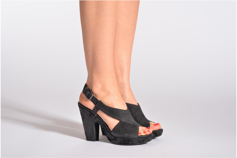 Sandales et nu-pieds Geox D NURIT A D5271A Beige vue bas / vue portée sac