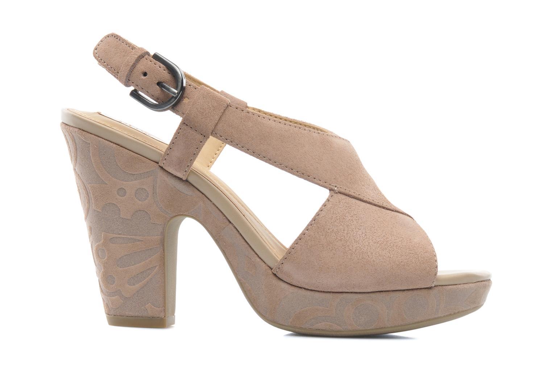 Sandals Geox D NURIT A D5271A Beige back view