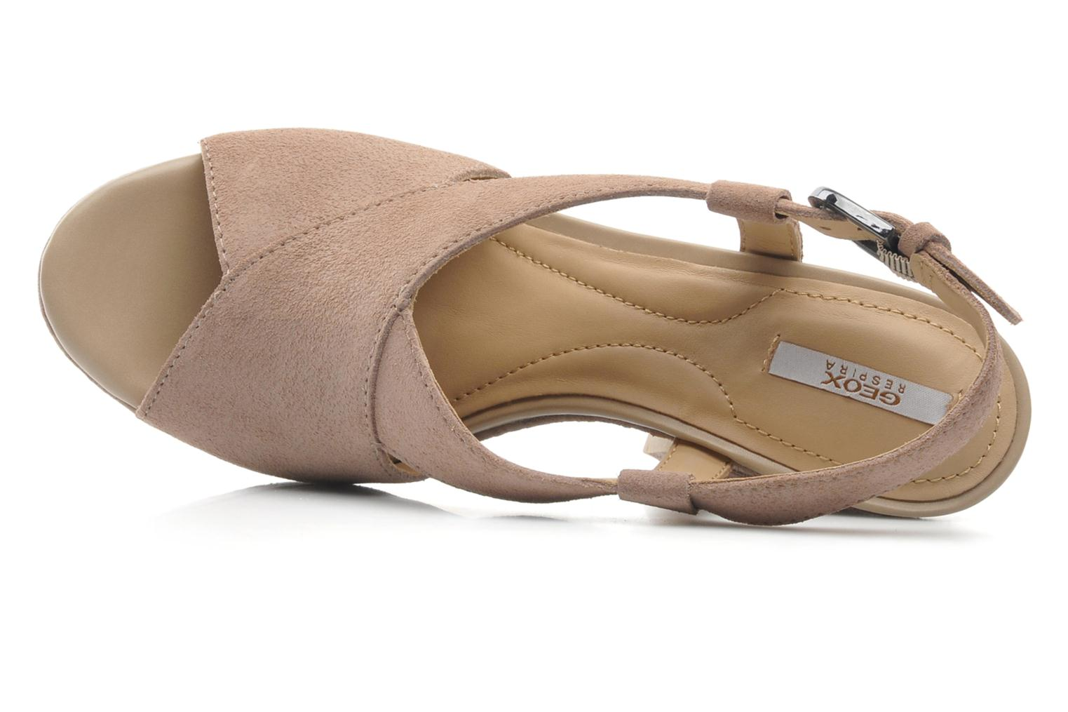 Sandals Geox D NURIT A D5271A Beige view from the left