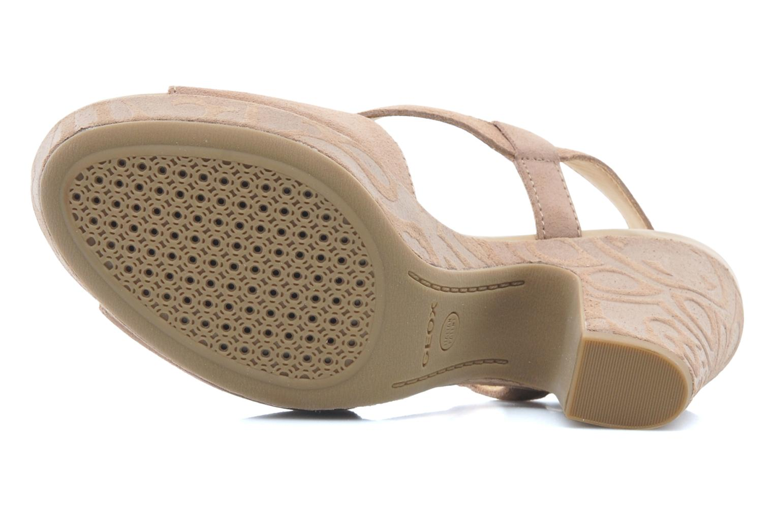 Sandals Geox D NURIT A D5271A Beige view from above