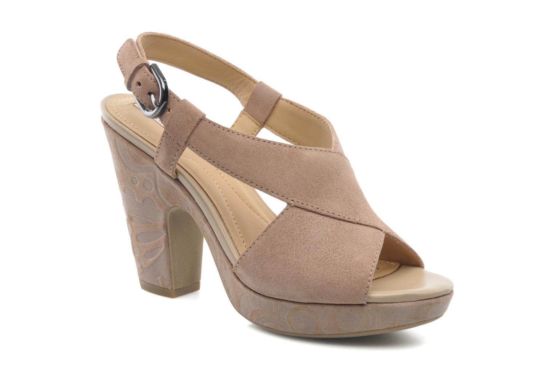 Sandaler Geox D NURIT A D5271A Beige detaljeret billede af skoene