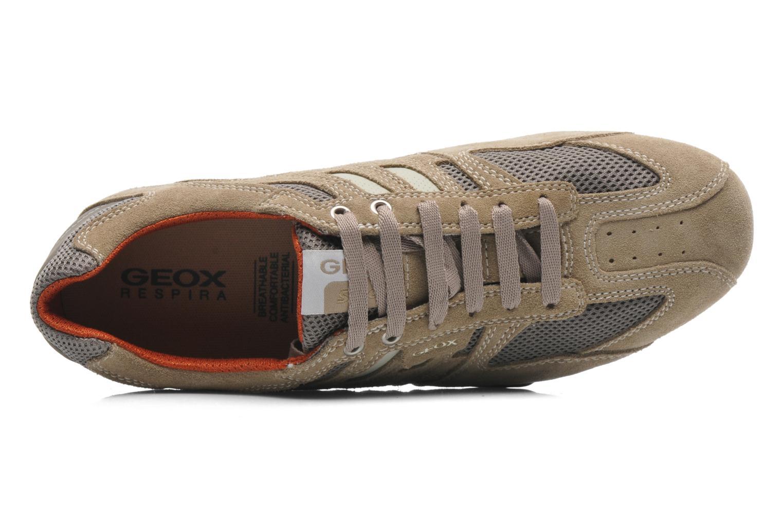 Sneaker Geox U SNAKE K U4207K beige ansicht von links