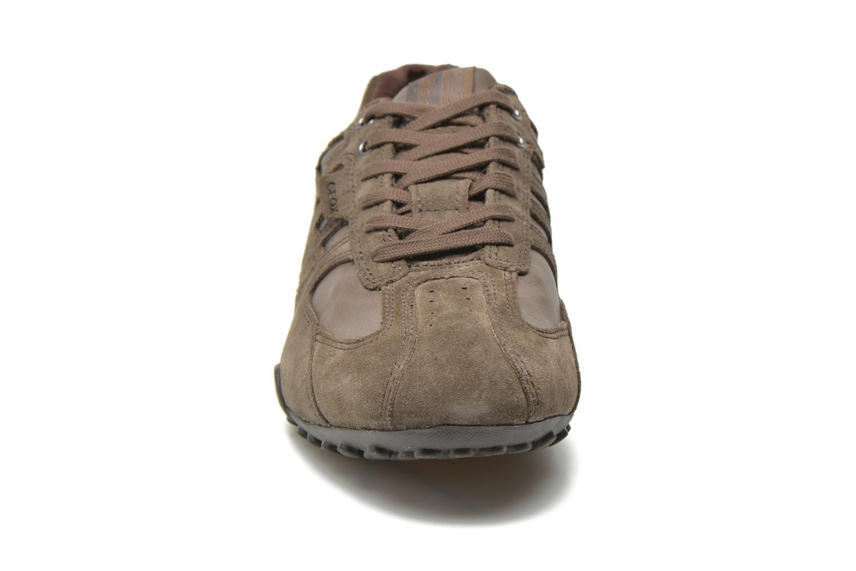 Sneaker Geox U SNAKE K U4207K grau schuhe getragen