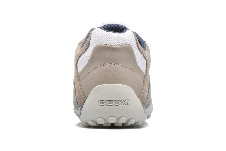 Baskets Geox U SNAKE K U4207K Blanc vue droite