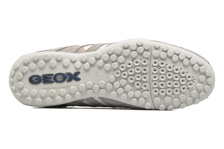 Baskets Geox U SNAKE K U4207K Blanc vue haut
