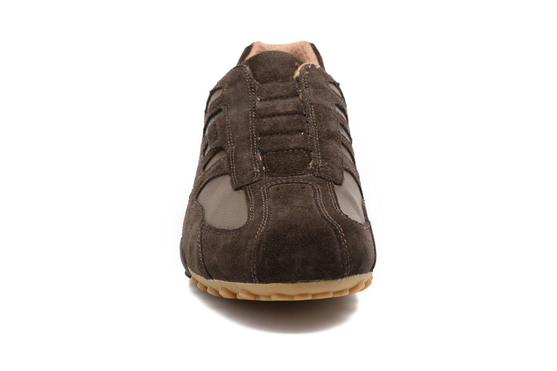 Baskets Geox U SNAKE L U4207L Marron vue portées chaussures