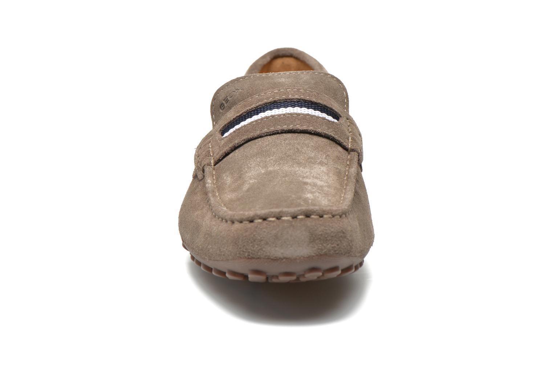 Mocassins Geox U SNAKE MOC A U5207A Beige vue portées chaussures